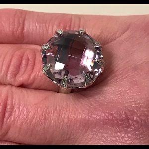 Rarities Amethyst Diamond Accent Cocktail Ring